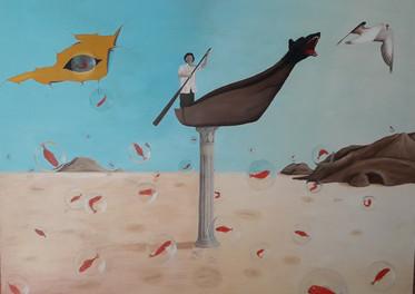 El Pescador - Óleo sobre tela - 140 x 100 cm