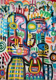 Siameses - Técnica mixta sobre tela - 160 x 120 cm