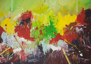 Volúmen de color - Acrílico sobre tela - 145 x 88 cm.