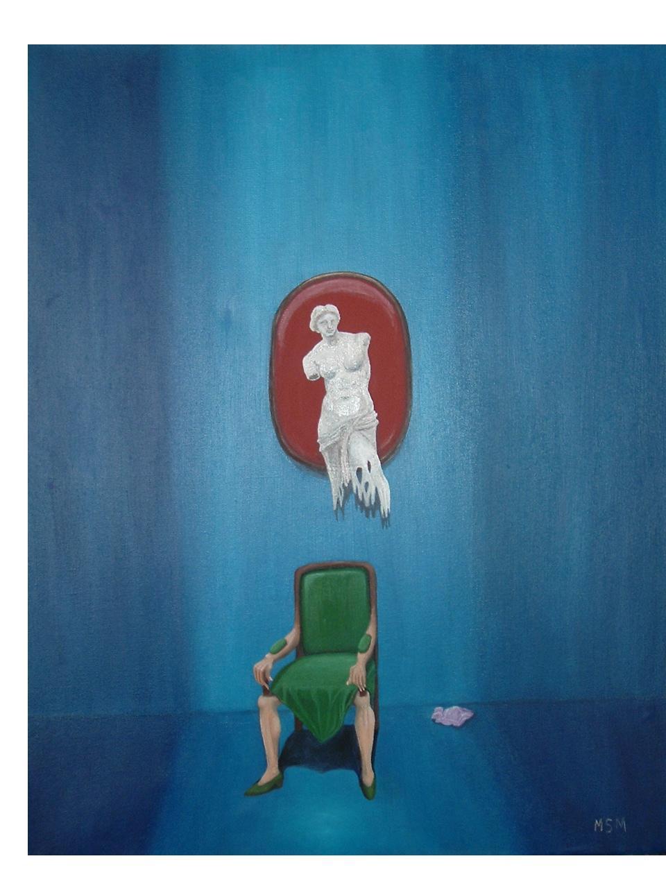 Objeto mujer-Oleo sobre tela- 40 x 50 cm.