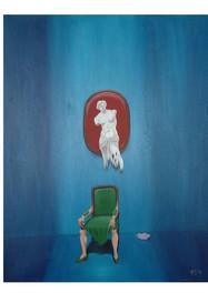 Objeto mujer- Óleo sobre tela- 40 x 50 cm.