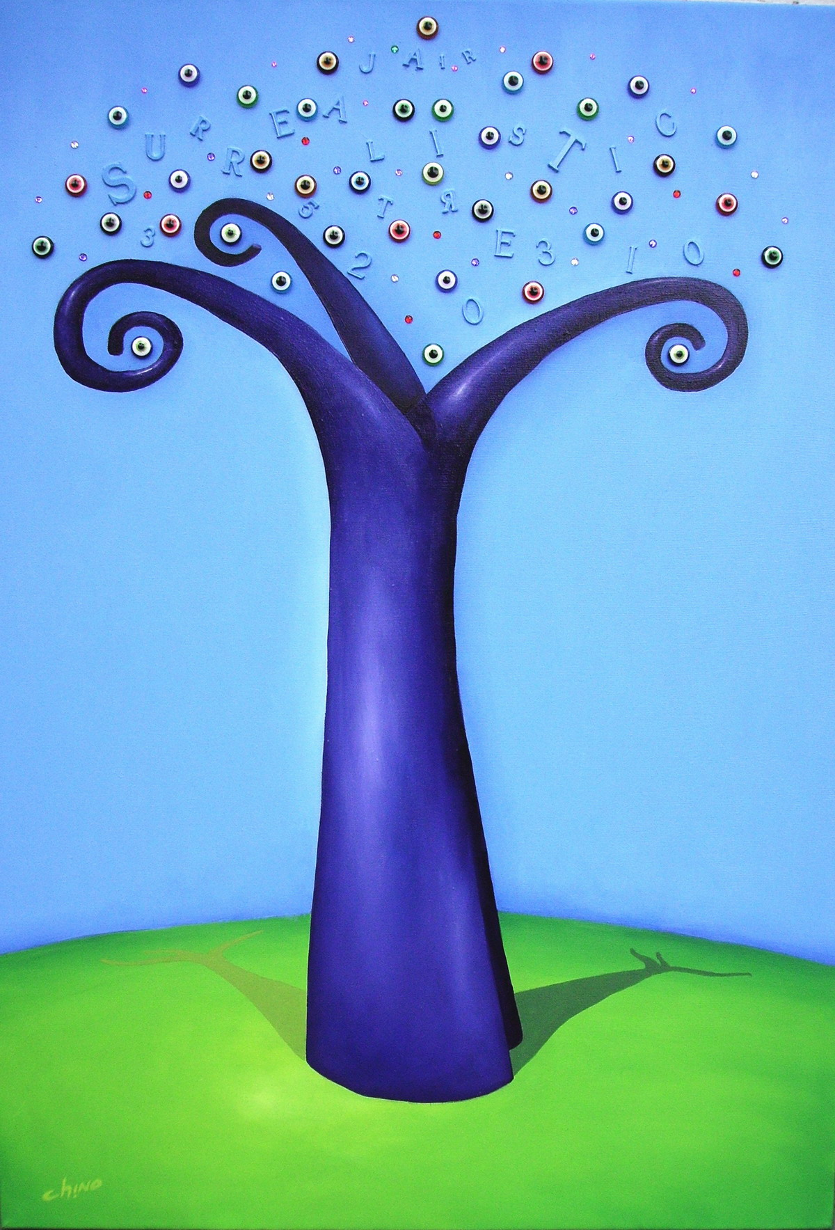 Surrealistic Tree -Técnica mixta sobre tela -100 x 70 cm.- 2014.