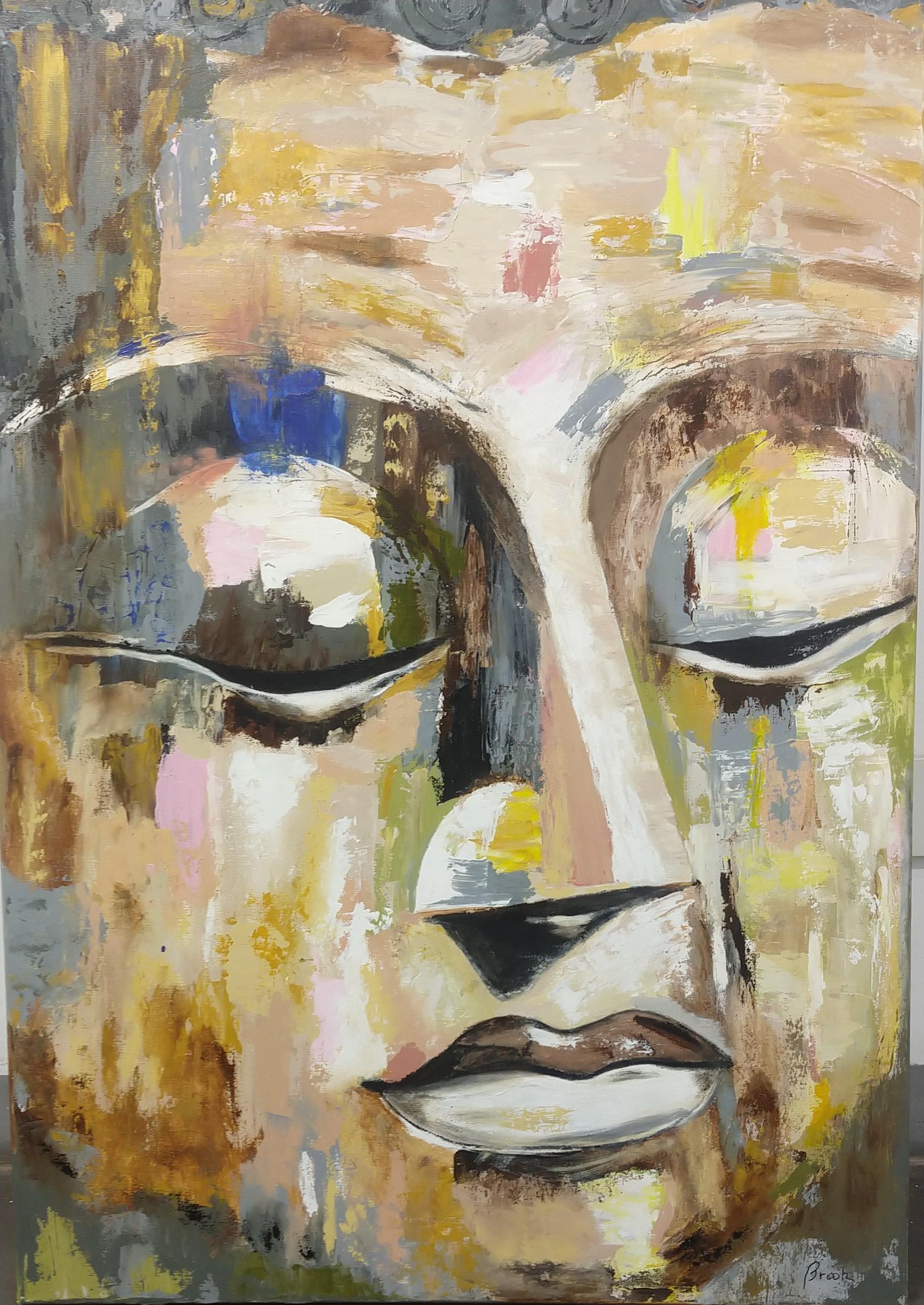 Buddah Thoughts- Acrilico 90 x 100 cm