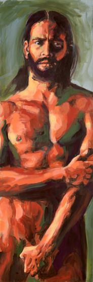 Expolio - Acrílico sobre tela -  40 x 150 cm - 2015.