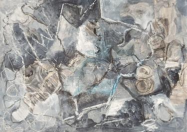 Grey - Técnica mixta sobre madera - 37 x 27 cm -