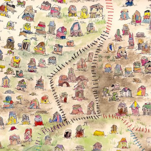 Bundlehouse Borderlines No.3 (Isle de Tribamartica) detail