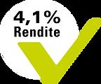 Hinweis: 4,1 Prozent Rendite