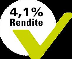 4,1 Prozent Mietrendite