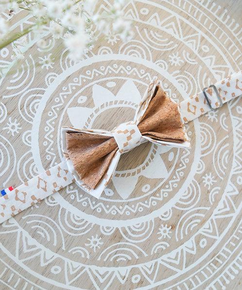 Noeud papillon en liège - White