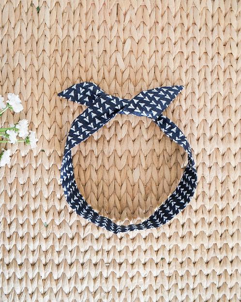 Headband bohème bleu jean