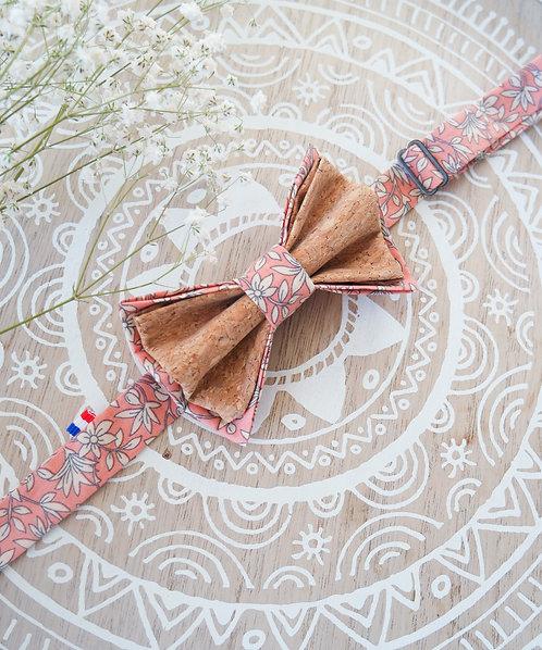 Noeud papillon en liège - Pink