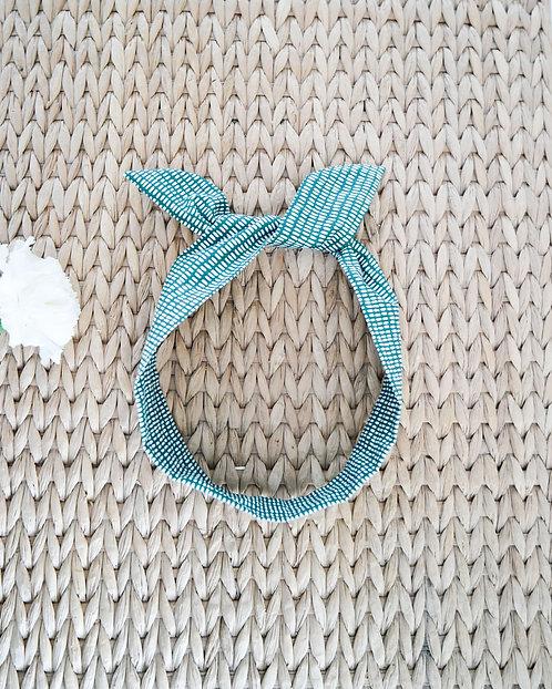 Headband bohème green