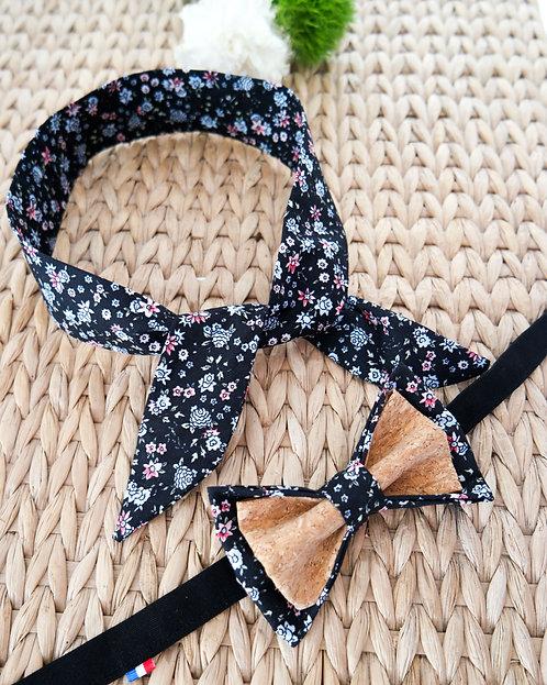 Duo Headband + Noeud papillon en liège assorti