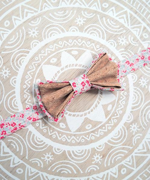Noeud papillon en liège - Pink Liberty