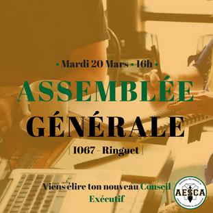 Assemblée Générale - 20 mars 2018