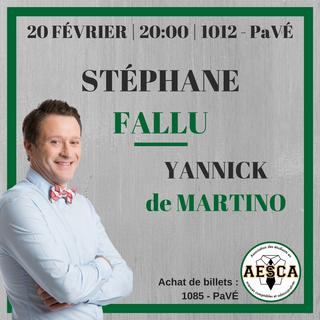 Show d'humour STÉPHANE FALLU - 20 février 2018