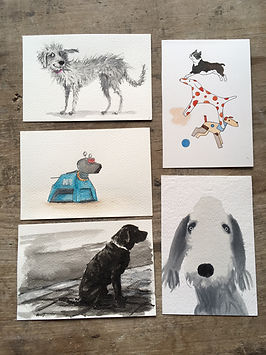 The SECRET DOG postcard sale
