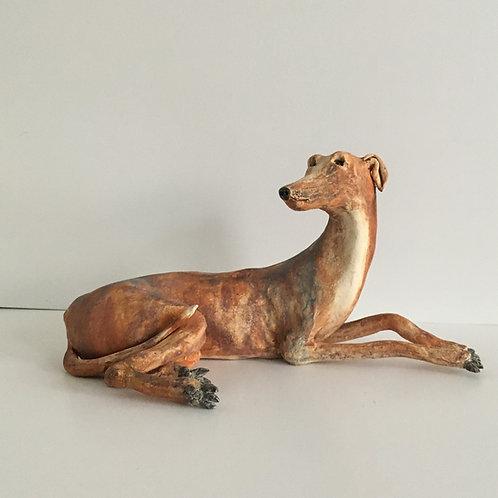 Resting Hound Sculpture