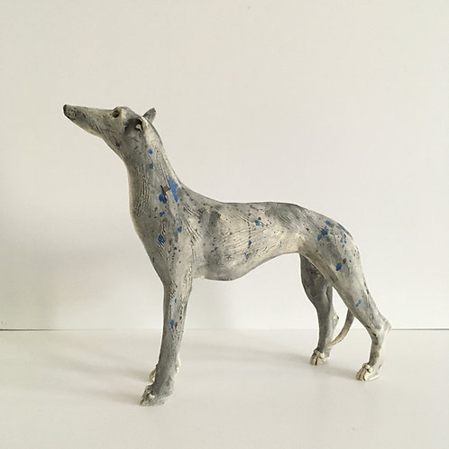 Alert Grey Hound Sculpture