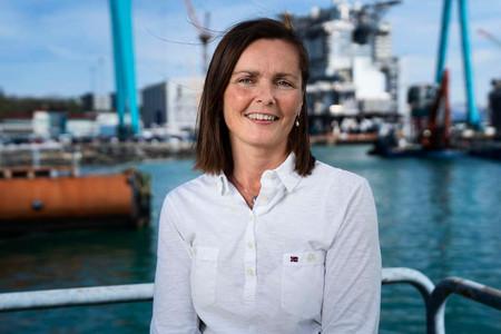 Ann-Cathrine Holmen, plattformsjef på Johan Sverdrup for Equinord. På jobb for Partnerstudio.