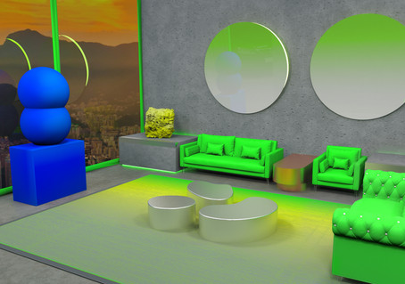 Interior design // art lounge for art geckos