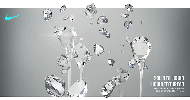 Crystalline illustration art for Nike.com