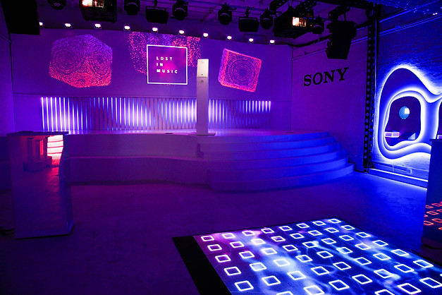 Sony Lost in Music immersive brand exerpience // NYC