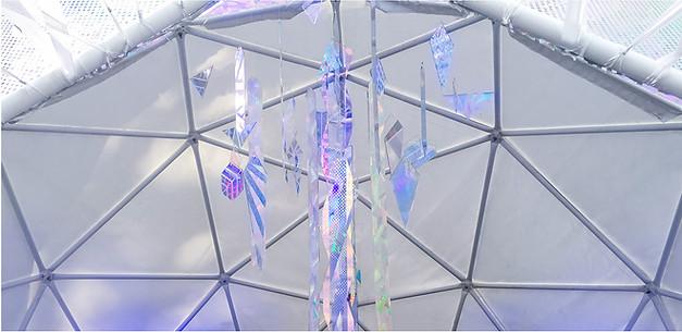 Prismatic crystal dome installation // Oregon