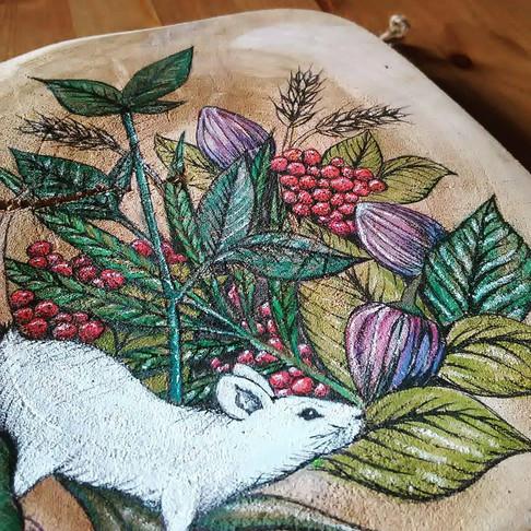 Holzmalerei/ Detail