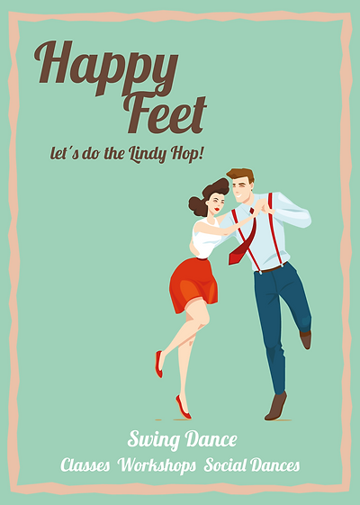Learn Lindy Hop and Charleston as partner dancing in Stuttgart. Further there are Social Dances and Workshops offered by HapyFeet Stuttgart.