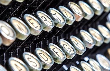 Weinlese-Schreibmaschine