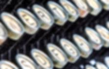 Macro shot of typewriter keys