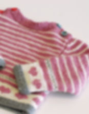 Pink Striped Baby Sweater