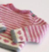 Rayé rose Pull bébé