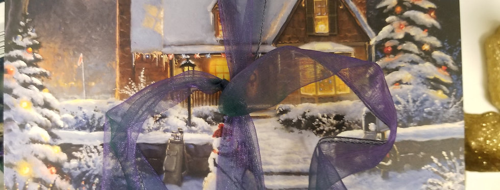 Christmas Cards - House with Snowman in Front - 16 cards  (3322)