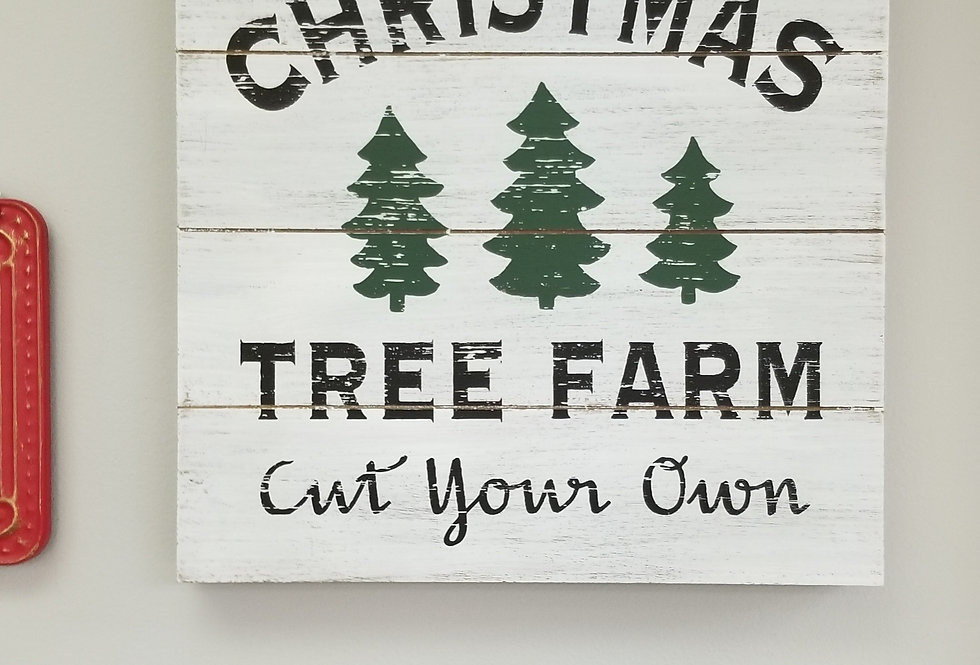 "Sign - Christmas Tree Farm Sign - 13.5""   (6678)"