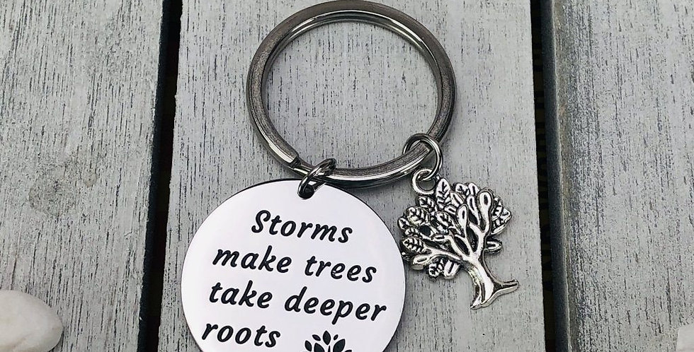 Storms make trees take deeper roots Keychain