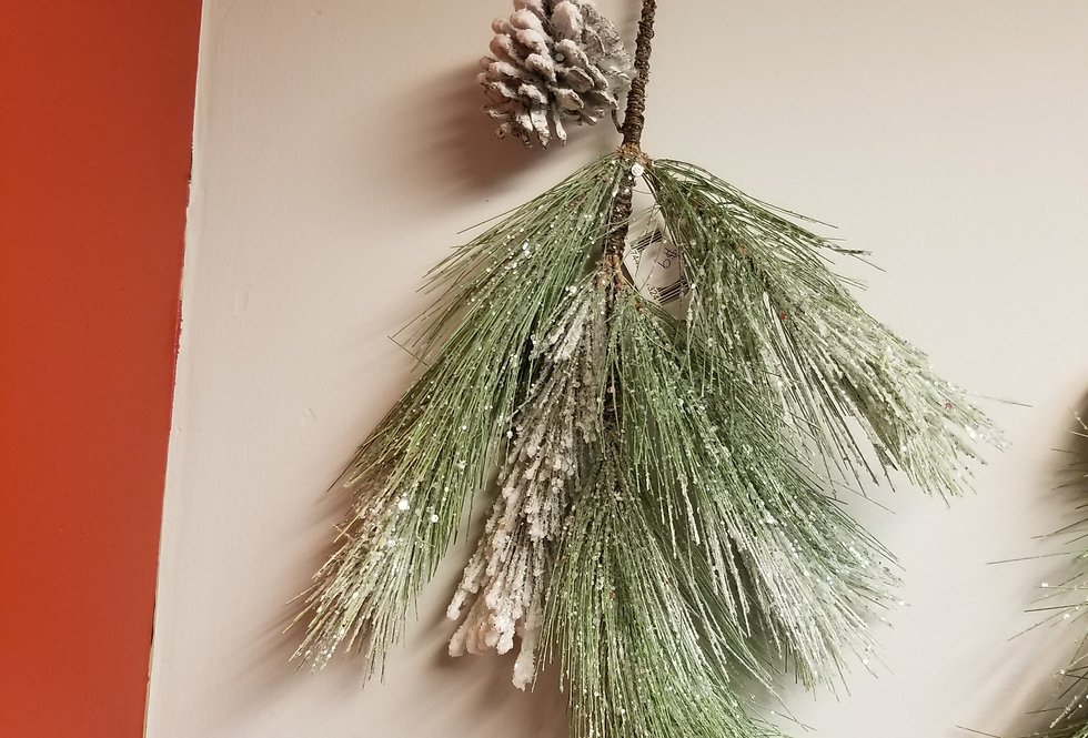 "Spray - Frosted Glittered Mixed Pine - 20|""  (81324)"