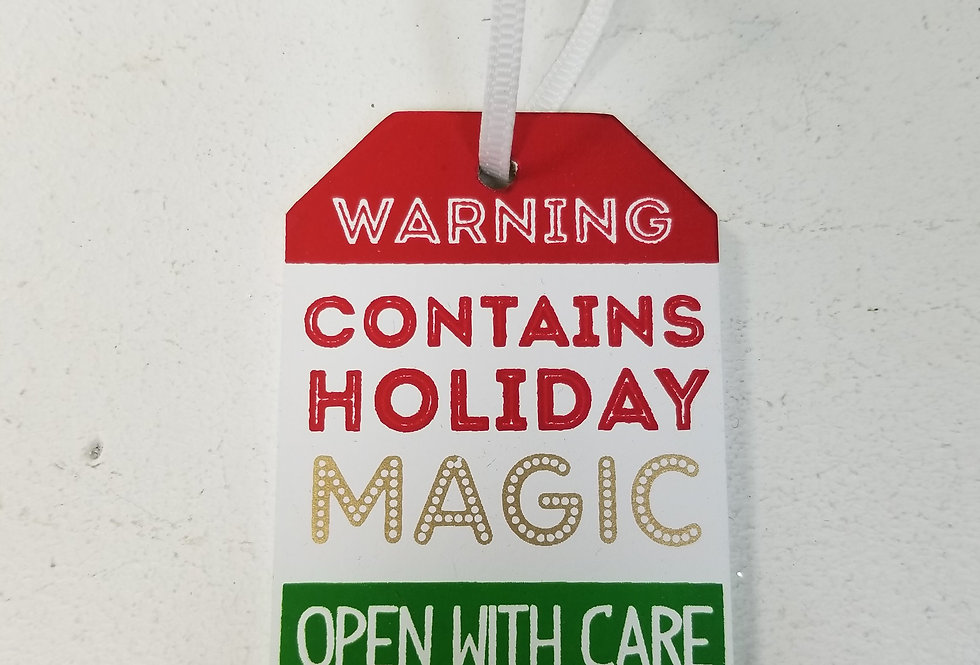 Gift Tags - Contains Holiday Magic   3x2  (19601W)