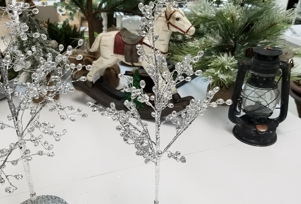"""Crystal Sparkle Tree - Silver Small -15"""" - (995550)"""