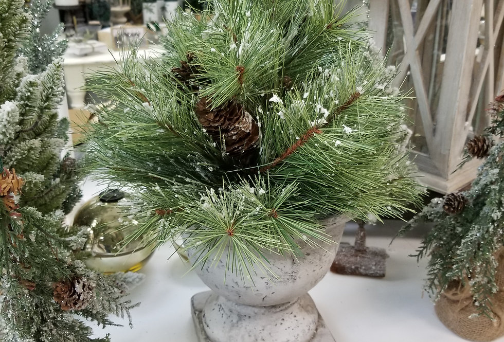 """Bush - Frosted Pine w/pinecones - 12"""" (111100)"""