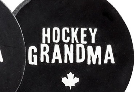 "Hockey Puck - Hockey Grandma Ornaments – 3"" Diameter  (05)"