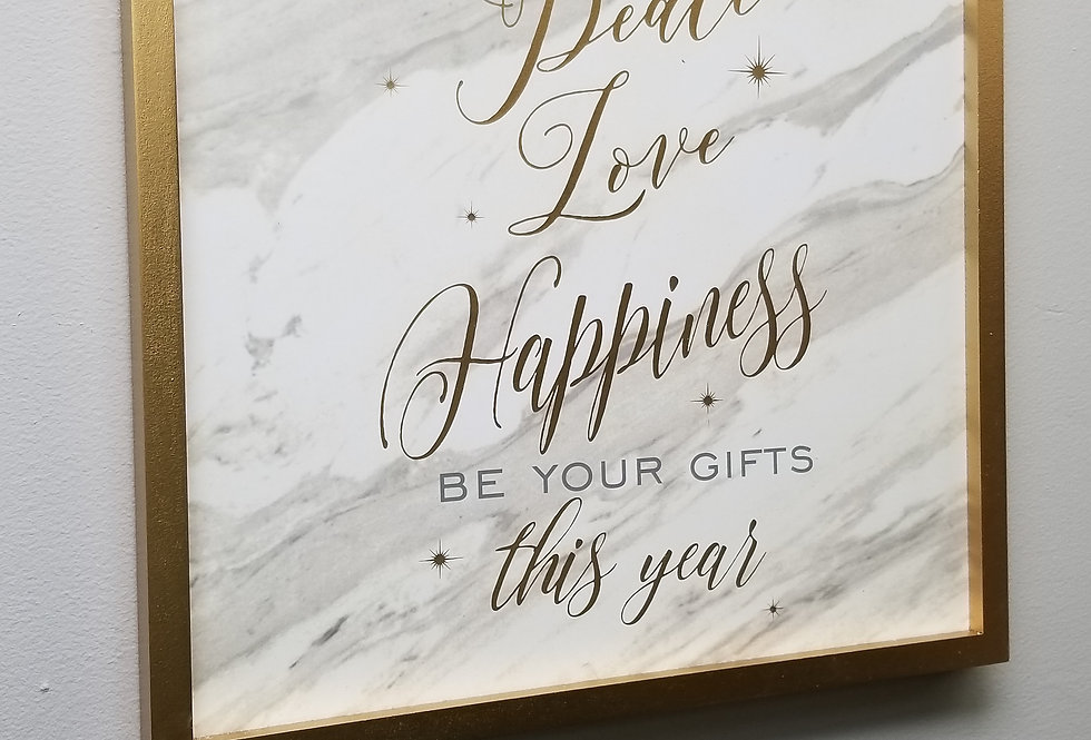 Picture - May Peace Love Happiness Be Your Gifts this Year - 16 x 16   (660766)