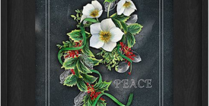 """Picture - Peace with Flowers - 6"""" x 8""""  (0198)"""