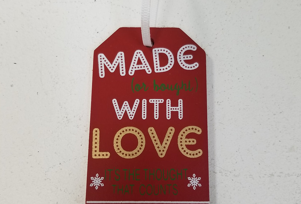 Gift Tags - Made with Love  (19601M)