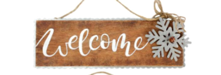 "Sign - Welcome - 12"" L x 3.75 W    (48317W)"