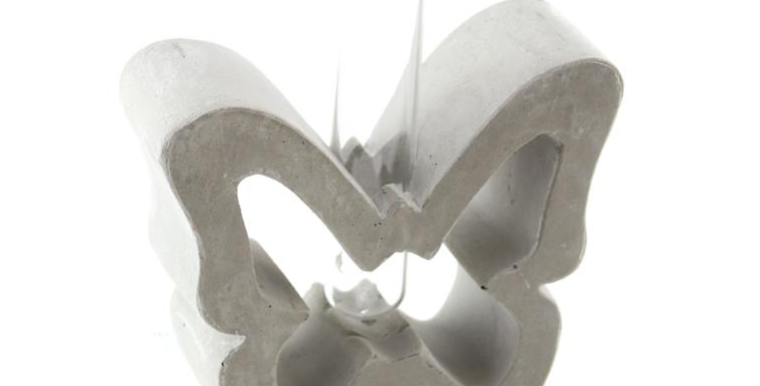 Cement Butterfly Vase