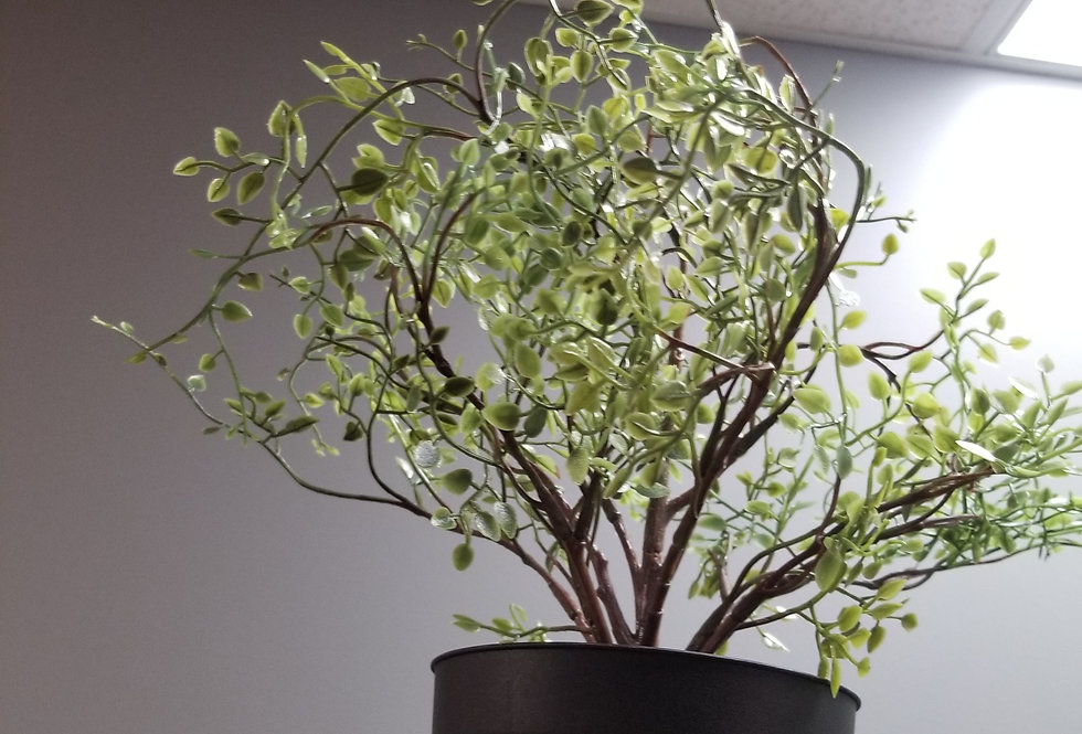 "Artificial Potted Wire plant, indoor/outdoor , 4 ¾ "" (12 cm)"