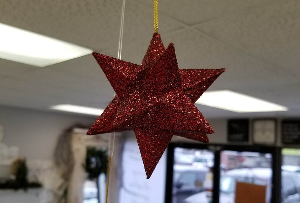 "Red 3D Star Ornament - 5""  (996604)"
