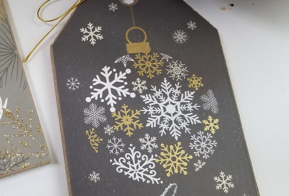 "Gift Tag Ornament - Wishes Do Come True - 6.75"" H x 4"" W (994491))"
